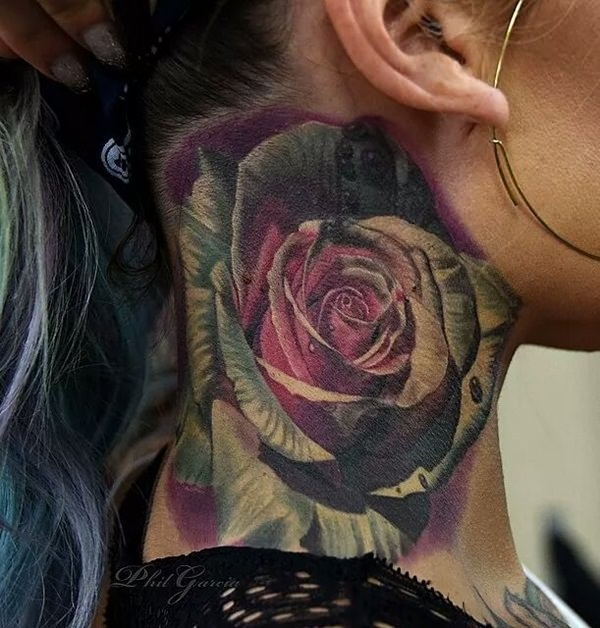 Neck Tattoo Designs and ideas61