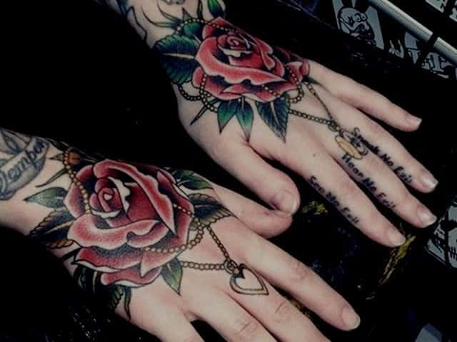 a65e76c3b25cb 155+ Amazing Must Have Rose Tattoos (with Meanings)