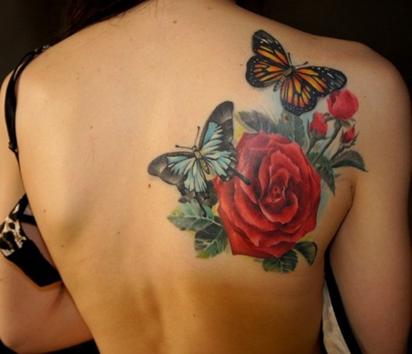 Lily Butterfly Tattoo Designs