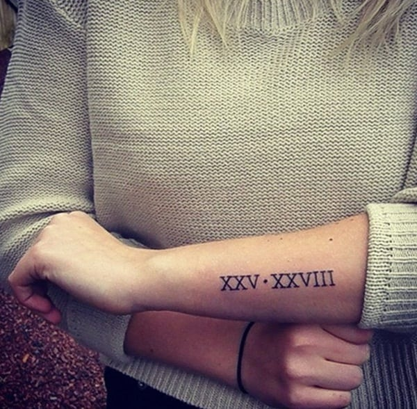 Roman numeral tattoo designs10