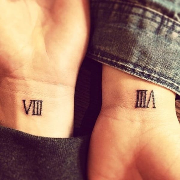 101 Cool and Classic Roman Numerals Tattoo Designs