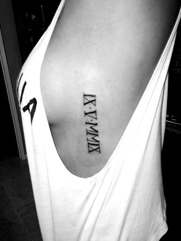Roman numeral tattoo designs15