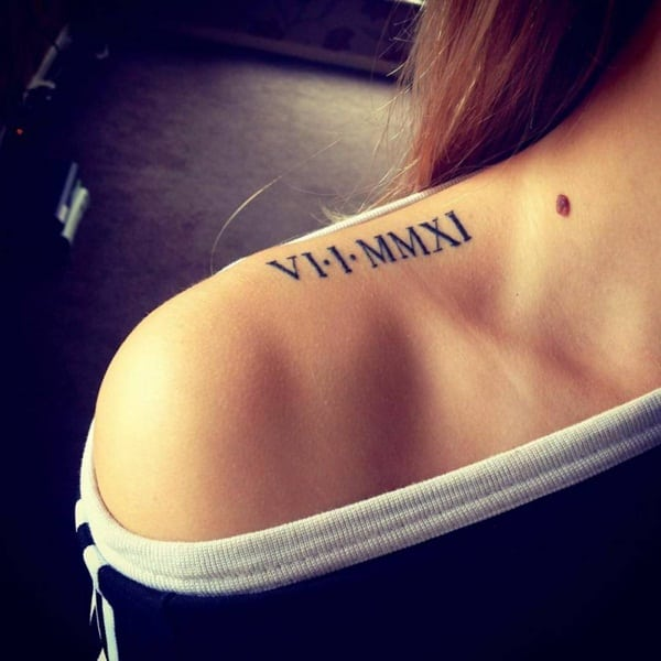 Roman numeral tattoo designs22