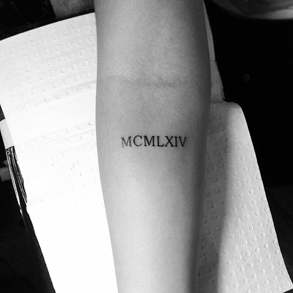 Roman numeral tattoo designs39