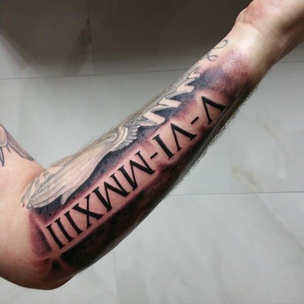 101 cool and classic roman numerals tattoo designs for Roman tattoo ideas