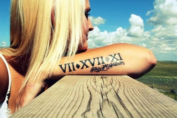 Roman numeral tattoo designs55