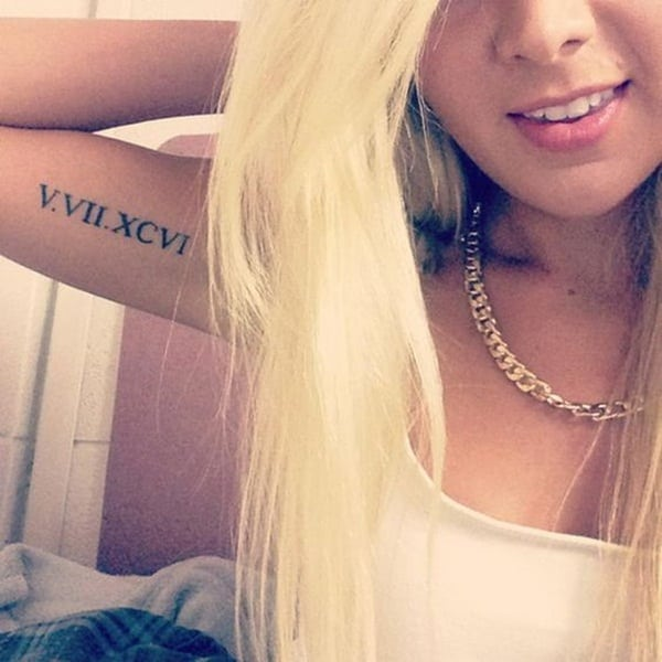 Roman numeral tattoo designs69
