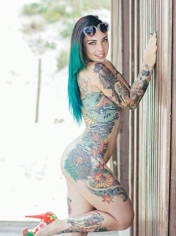 Nude tattoo girls Nude Photos 39