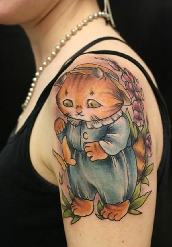 cat tattoo designs for girls25