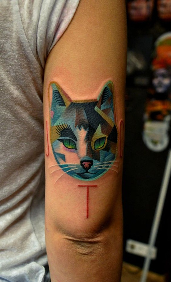 cat tattoo designs for girls40