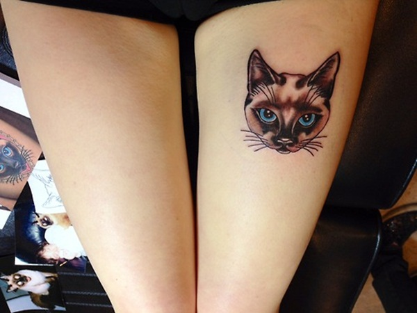 Cat Eyes Tattoo On Shoulder
