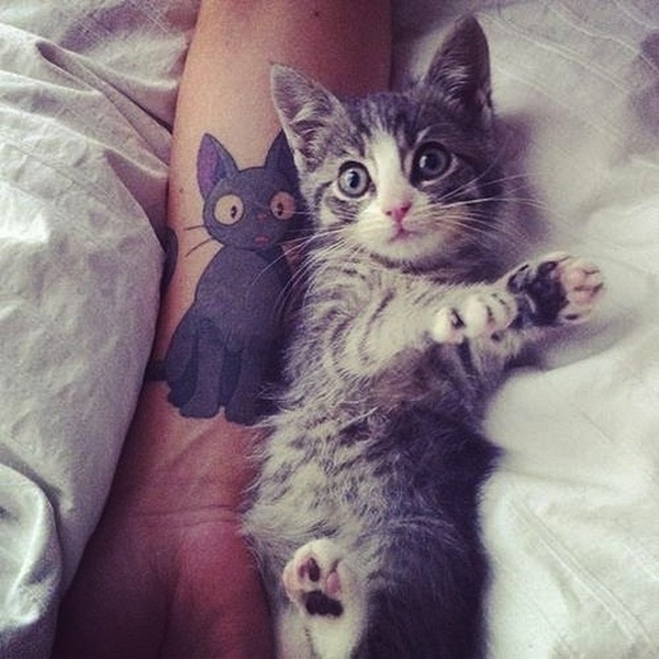 cat tattoo designs for girls65