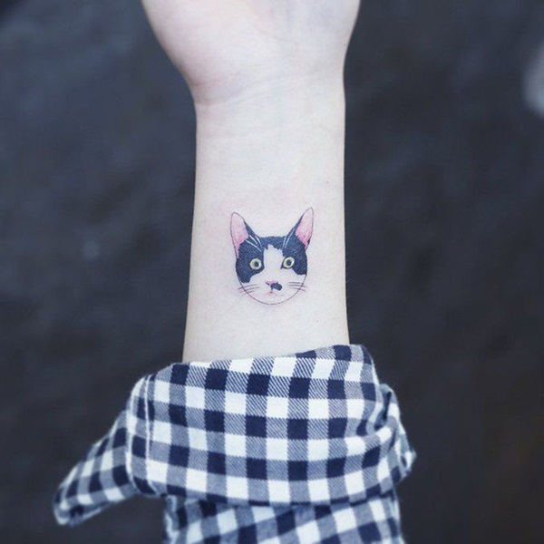 cat tattoo designs for girls70