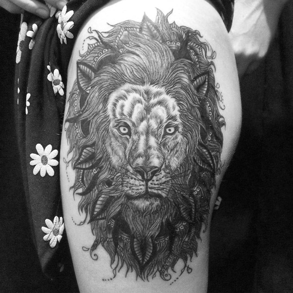 lion tattoo designs for boys and girls24
