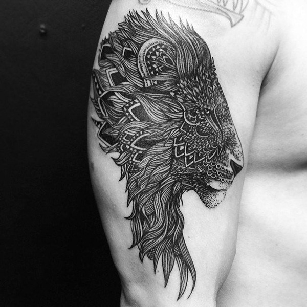 lion tattoo designs for boys and girls31