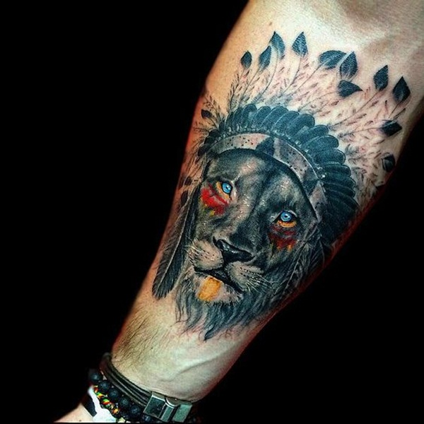 lion tattoo designs for boys and girls47