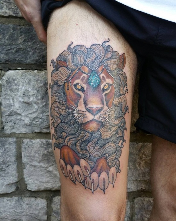 lion tattoo designs for boys and girls48