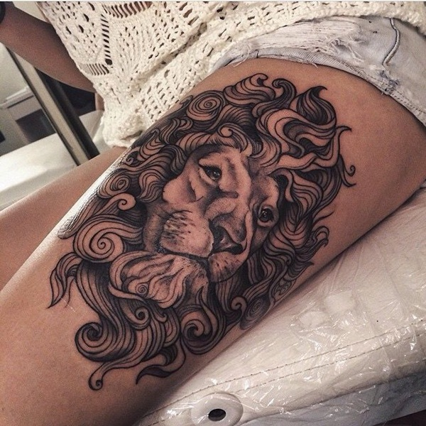 lion tattoo designs for boys and girls49