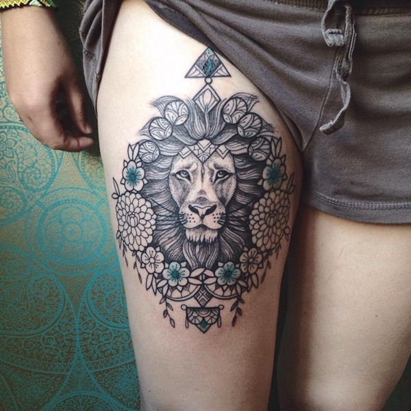 lion tattoo designs for boys and girls63