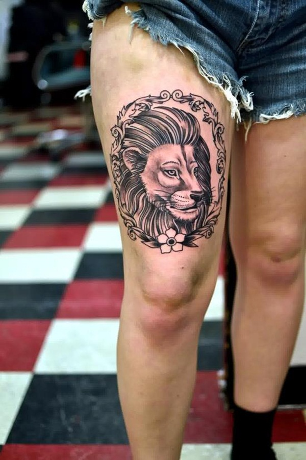 lion tattoo designs for boys and girls65