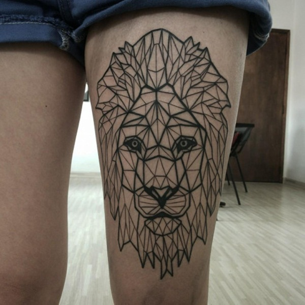 145 daring lion tattoo designs for men and women. Black Bedroom Furniture Sets. Home Design Ideas