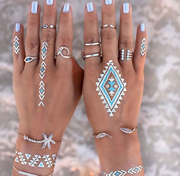 metallic tattoo designs for women14