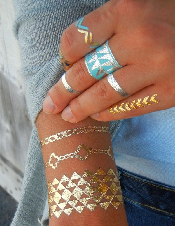 metallic tattoo designs for women16