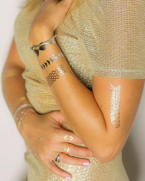 metallic tattoo designs for women27