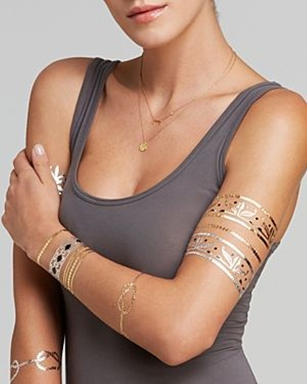 metallic tattoo designs for women49