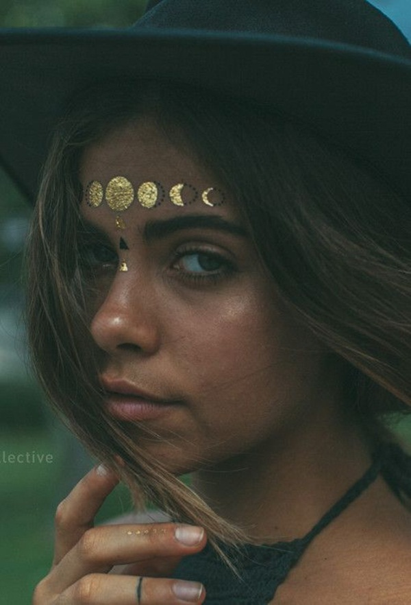 metallic tattoo designs for women56