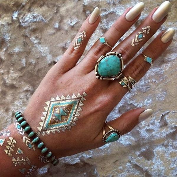metallic tattoo designs for women62