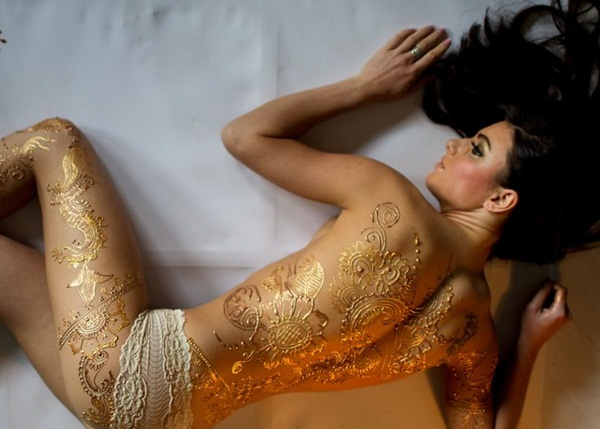 metallic tattoo designs for women7