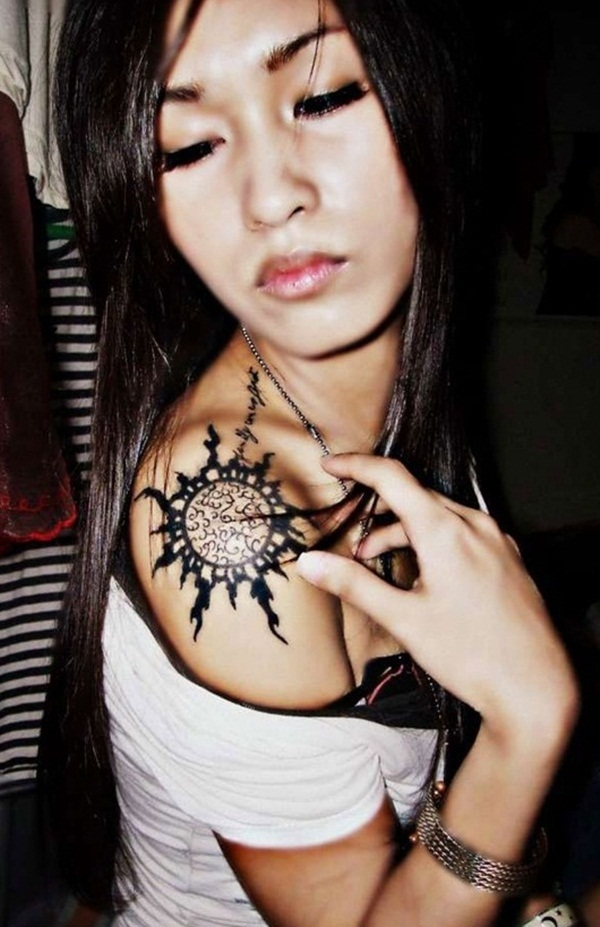 sexy sun tattoo designs 2