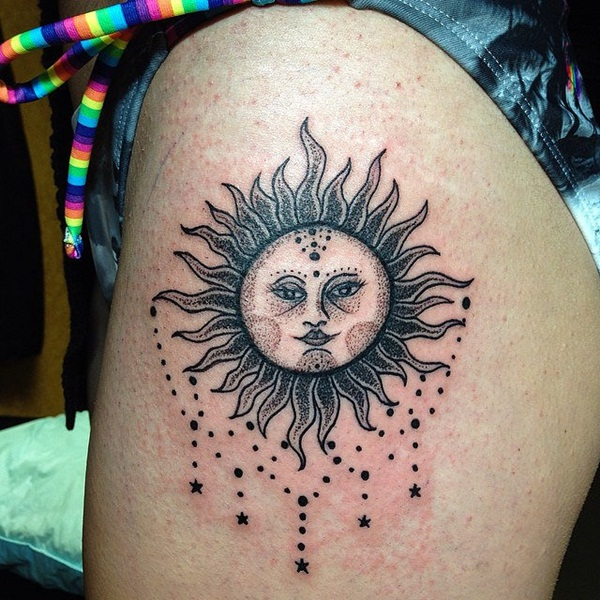 175+ Warm And Bright Sun Tattoos
