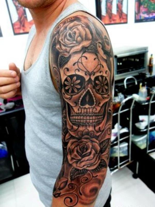 56971e378 145+ Cool Skull Tattoos Not Only For Boys!