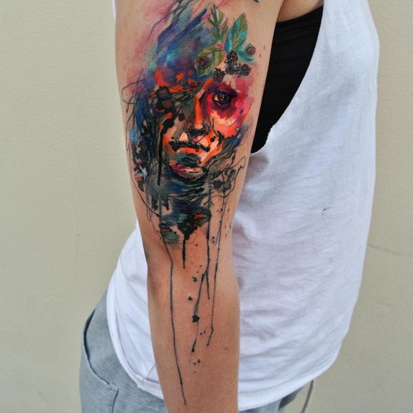 water color tattoo design and ideas58