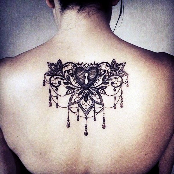 Lace Tattoos Designs and Ideas (100)
