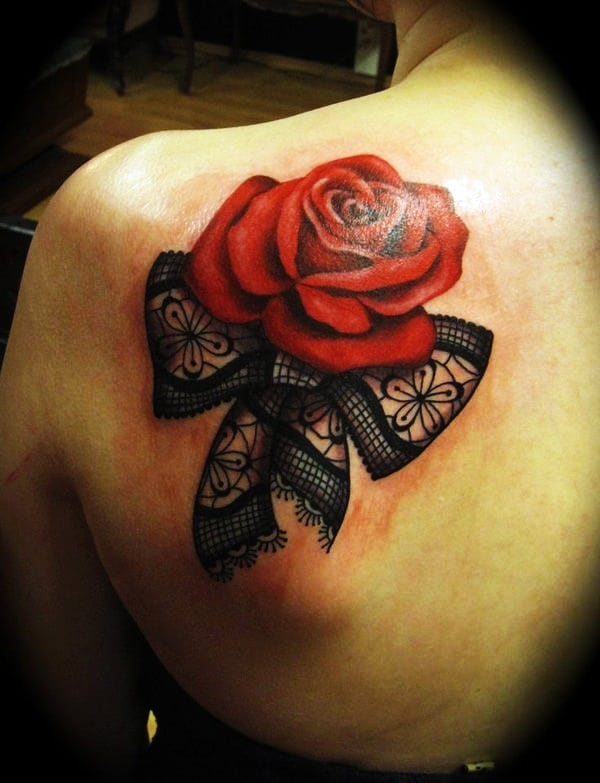 Lace Tattoos Designs and Ideas (17)
