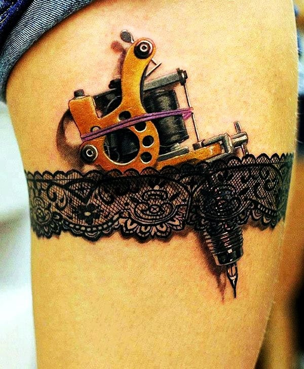 Lace Tattoos Designs and Ideas (18)