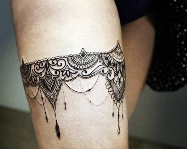 Mehndi Tattoo Designs For Upper Arms : Tasteful lace tattoos designs and ideas