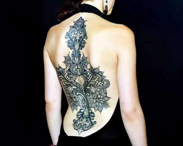 Lace Tattoos Designs and Ideas (38)