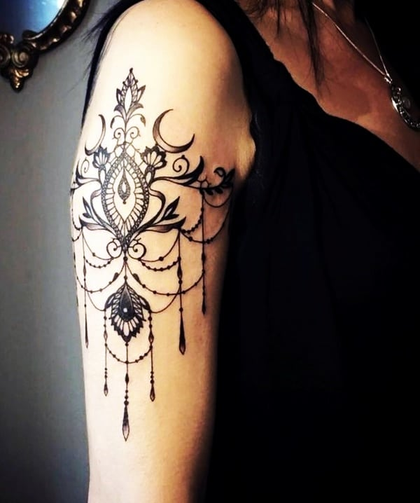 Lace Tattoos Designs and Ideas (42)