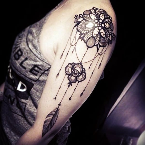 Lace Tattoos Designs and Ideas (44)