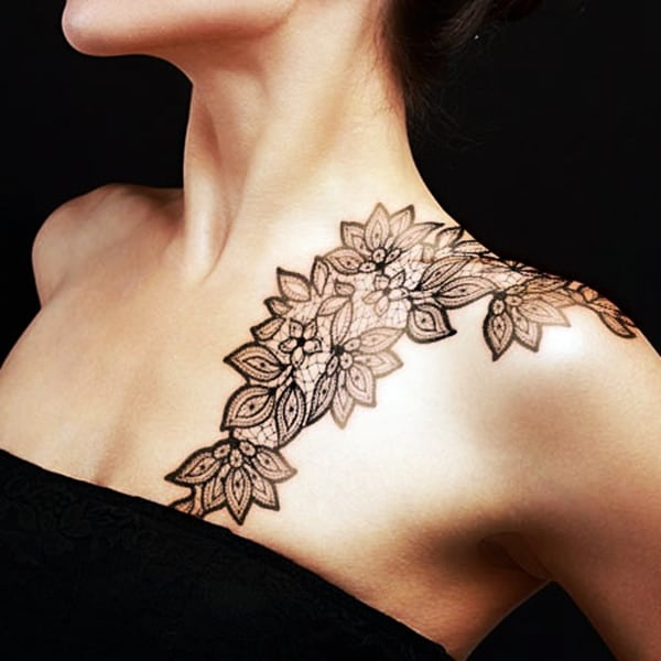 Lace Tattoos Designs and Ideas (53)