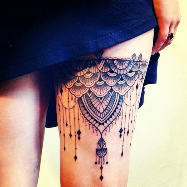 Lace Tattoos Designs and Ideas (61)