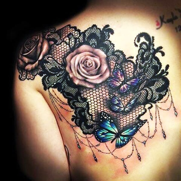 Lace Tattoos Designs and Ideas (64)
