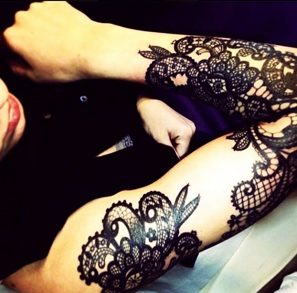 Lace Tattoos Designs and Ideas (7)