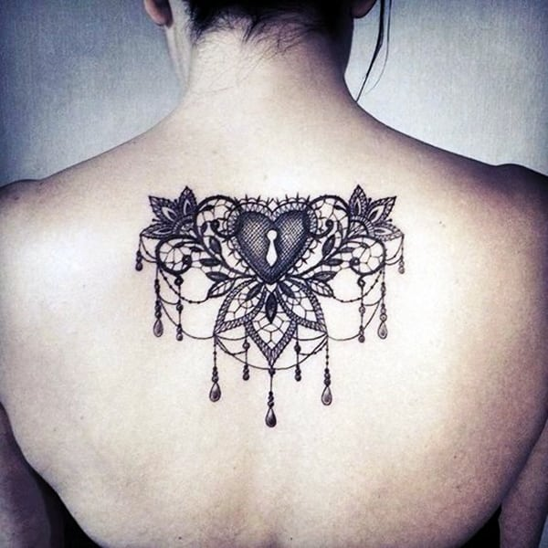 Lace Tattoos Designs and Ideas (78)