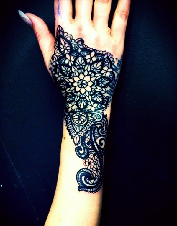 Lace Tattoos Designs and Ideas (8)