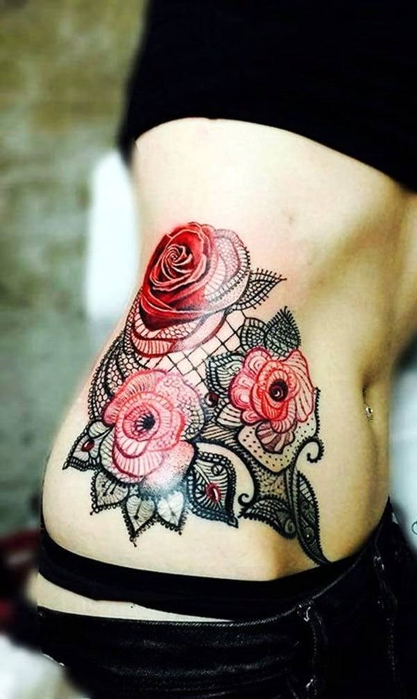 Lace Tattoos Designs and Ideas (84)